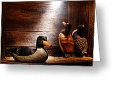 Decoys In Old Hunting Cabin Greeting Card