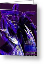 Deep Purple Abstract Greeting Card
