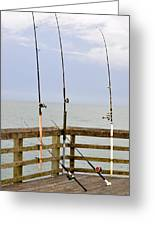 Deep Sea Fishing Off Of The Surf City Pier Greeting Card