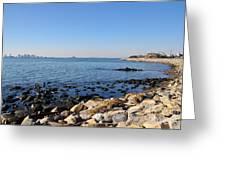 Deer Island Coast Greeting Card by Extrospection Art