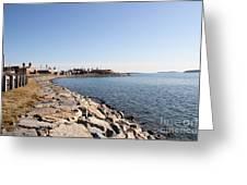 Deer Island Trail Greeting Card by Extrospection Art