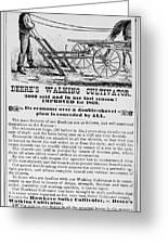 Deere Plow, 1869 Greeting Card