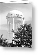 Deerfield Beach Tower In Black And White Greeting Card