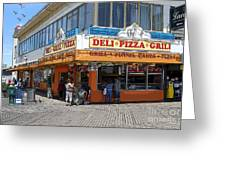 Deli Pizza Grill Funnel Cakes Greeting Card