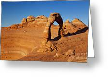 Delicate Arch At Sunset Greeting Card