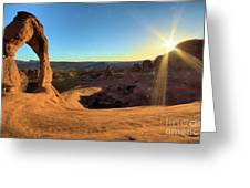 Delicate Arch Bowl Greeting Card
