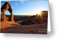 Delicate Arch Bowl Starburst Greeting Card