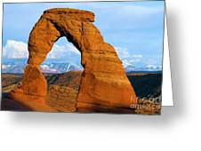Delicate Arch Closeup Greeting Card