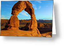 Delicate Arch Portrait Greeting Card