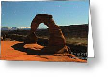 Delicate Arch Under Moonlight Greeting Card