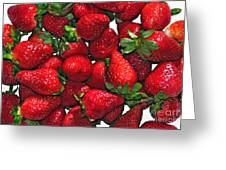 Deliciously Sweet Strawberries Greeting Card