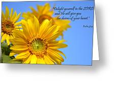 delight yourself in the Lord... Greeting Card