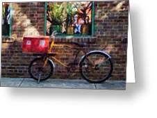 Delivery Bicycle Greenwich Village Greeting Card