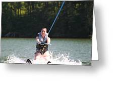 Demi Skiing Greeting Card