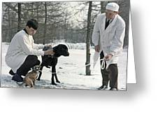 Demikhov's Laboratory Dogs, 1967 Greeting Card