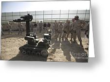 Demonstration Of A Bomb Disposal Robot Greeting Card