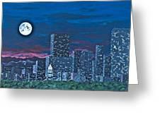 Denver Moon Greeting Card