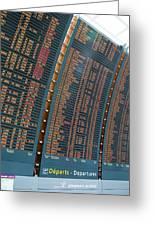 Departure Board At Paris Airport Greeting Card