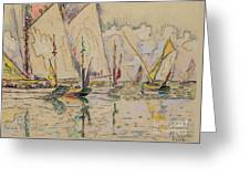 Departure Of Tuna Boats At Groix Greeting Card