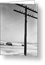 Depression Era Rural America Greeting Card