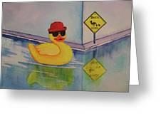 Derby Duck Greeting Card