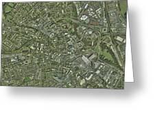Derby, Uk, Aerial Image Greeting Card