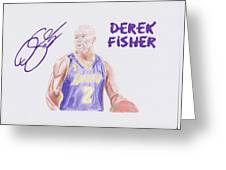 Derek Fisher Greeting Card by Toni Jaso
