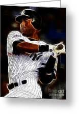 Derek Jeter New York Yankee Greeting Card