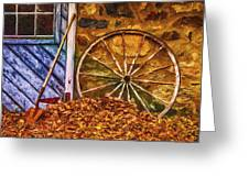 Derelict Cabin Greeting Card