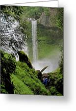 Descent To The Falls Greeting Card