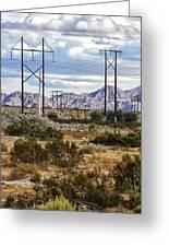 Desert Blue Greeting Card