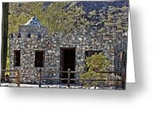 Desert Castle Greeting Card