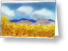 Desert Cottonwoods In Autumn Greeting Card