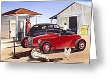 Desert Gas Station Greeting Card