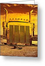 Desert Hauler Abstract Greeting Card