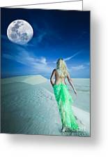 Desert Woman Greeting Card