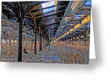 Deserted Railroad Platforms Greeting Card