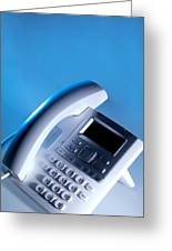 Desk Telephone Greeting Card by Tek Image