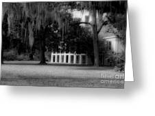 Destrehan Plantation In Black And White Greeting Card