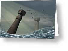 Destruction Of Atlantis Greeting Card