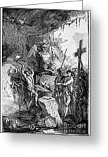 Destruction Of Idols, C1750 Greeting Card
