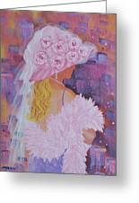 Pink Hat Beauty Greeting Card