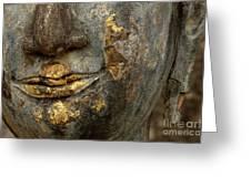 Detail Buddhas Lips Greeting Card