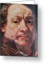Detail From Portrait Of The Artist Rembrandt Canady Portfolio 9 Greeting Card