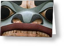 Detail Of A Totem Pole Greeting Card