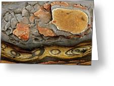Detail Of Eroded Rocks Swirled Greeting Card