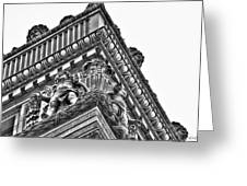 Details Of The Ellicott Buildings Roof Greeting Card