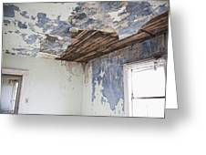 Deteriorating Ceiling In An Abandoned House Greeting Card