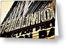 Detroit Fillmore Theatre Greeting Card