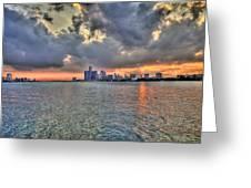 Detroit Sunset  Greeting Card